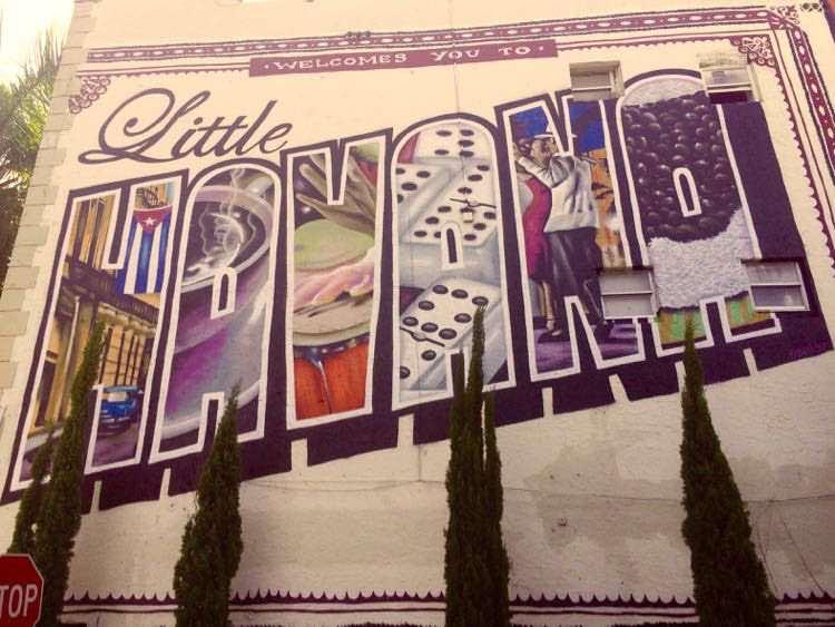 wall mural street art in Little Havana Miami