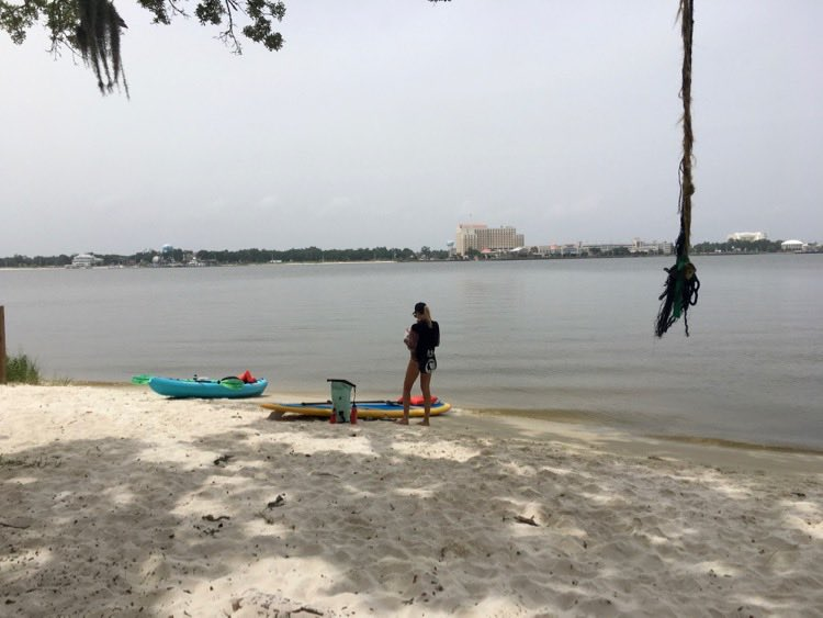 view of Biloxi Mississippi from Deer Island
