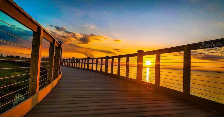 Louisiana sunset at Bucktown Marsh Boardwalk