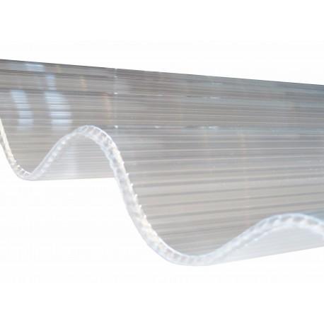 Plaque De Polycarbonate Ondule 1 5 M 2m 3m Alveolaire Translucide 6mm Grandes Ondes