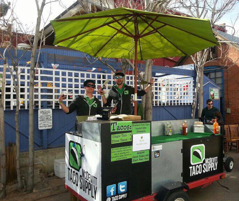 Super Heady Tacos taco cart in Boulder