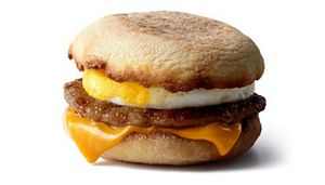 Image result for sausage and egg mcmuffin