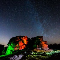 The Amazing Milky Way at Brimham Rocks