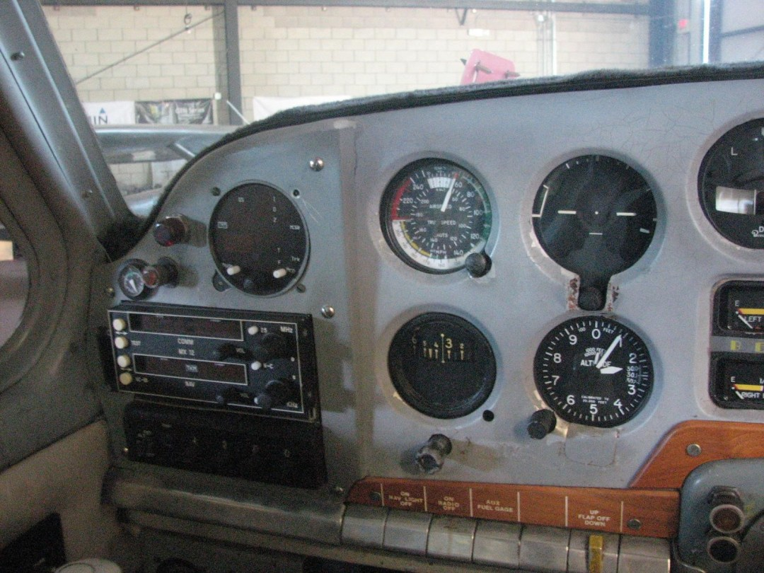 1947 BEECHCRAFT A35 BONANZA pilot side instruments and radios