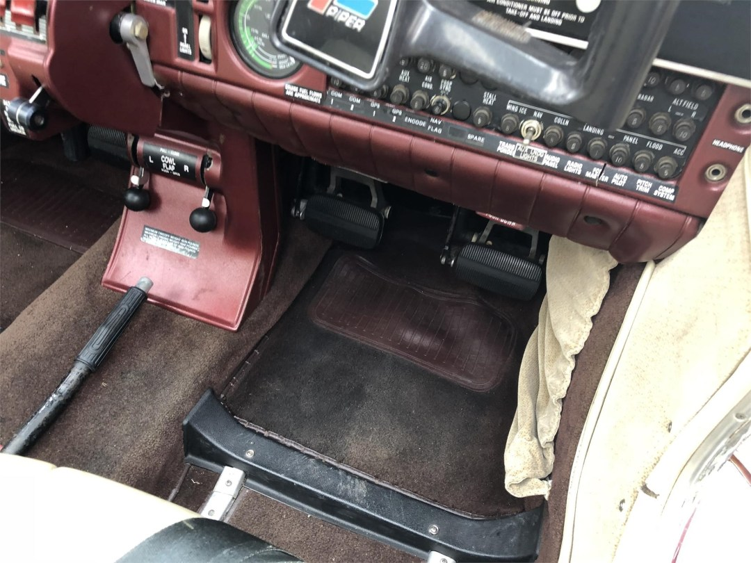 1979 PIPER SENECA II co-pilot rudder pedals