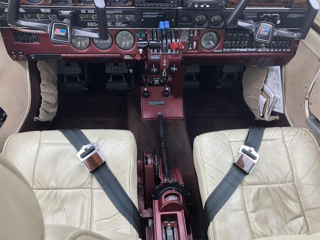 1979 PIPER SENECA II downward view of pilot and copilot intsrument panel