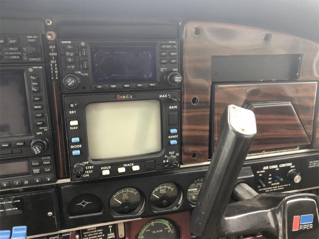 1979 PIPER SENECA II radios and weather panel
