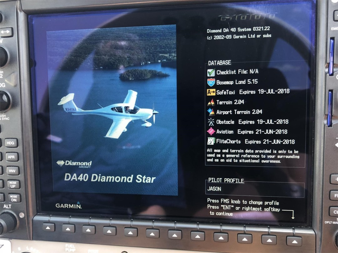 2008 DIAMOND DA40 XLS Garmin G1000 avionics