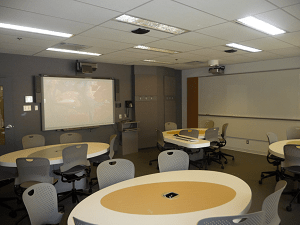 688 Sherbrooke Rm 1265 (24 students) - One of the newer Active Learning Classrooms at McGill