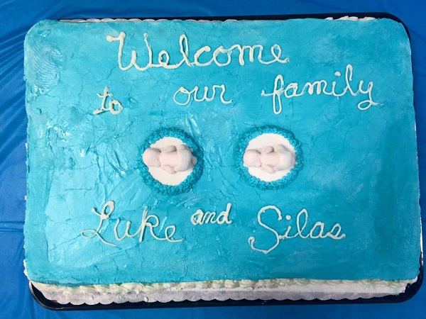 Steve Jr. and Rebekah Ayers have twin boys, Luke and Silas. A shower was held Saturday afternoon.