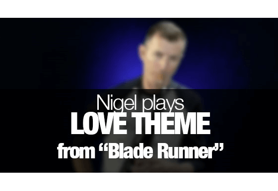 "Love Theme from ""Blade Runner"" played on saxophone"