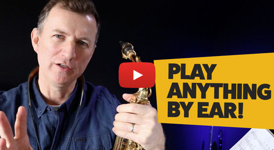 Play anything by ear on saxophone