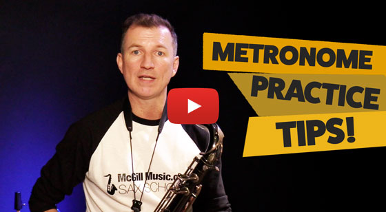 How to practice saxophone with a metronome