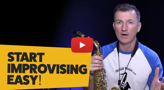 How to start improvising on saxophone