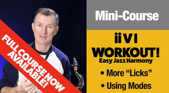 More jazz harmony lessons for saxophone