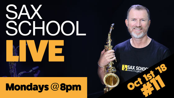 Live #11 – A Blues Saxophone Warmup to boost your skills!