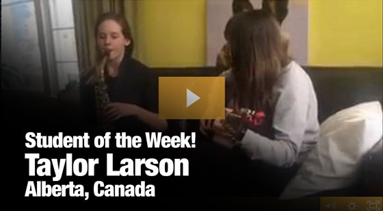 Taylor Larson – Student of the week!
