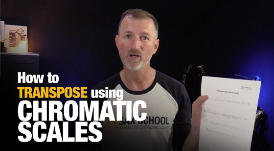 How to transpose on Saxophone using Chromatic Scales