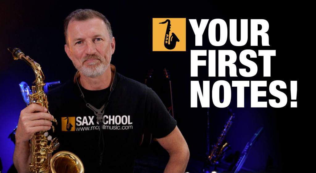 Beginner Saxophone Lesson Your First notes from Sax School