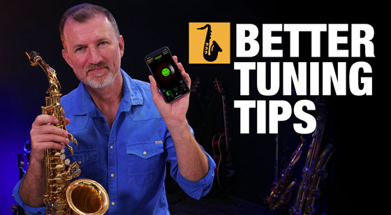 tuning your sax with somewhere over the rainbow