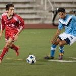 Winston Pool anchored McGill's midfield. (Alexandra Allaire / McGill Tribune)