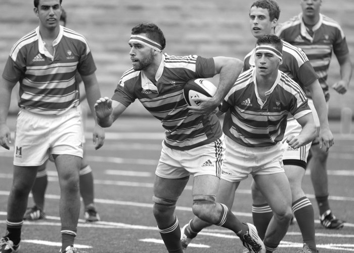 Marc Webster playing Rugby