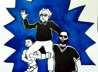 Bernie Sanders, Killer Mike, and Lil B