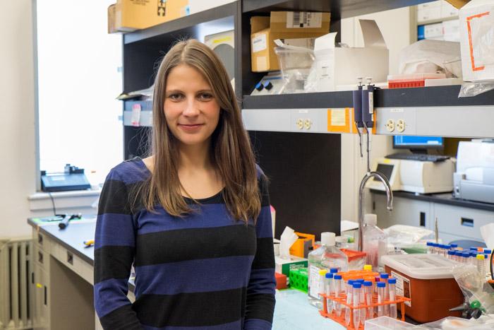 Viktorija Glembockytė is a student in the Cosa lab.  (Noah Sutton / McGill Tribune)