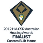 Finalist 2012 HIA-CSR Australian Housing Awards Custom Built Home of the Year