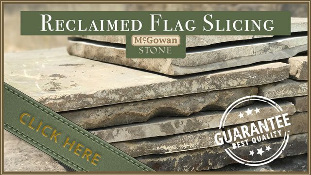 Reclaimed Flag Slicing McGowan Stone Colne, Lancashire