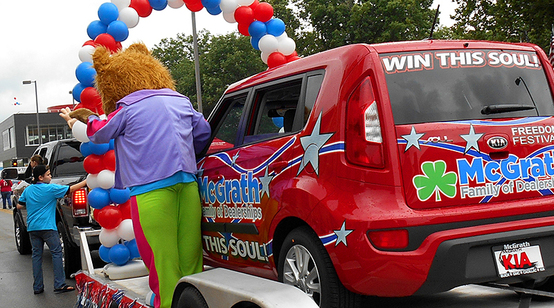 McGrath Auto in Cedar Rapids Freedom Festival Parade