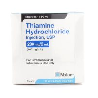 Thiamine HCl, B-1, 100mg/mL, MDV, 2mL Vial | McGuff Medical Products
