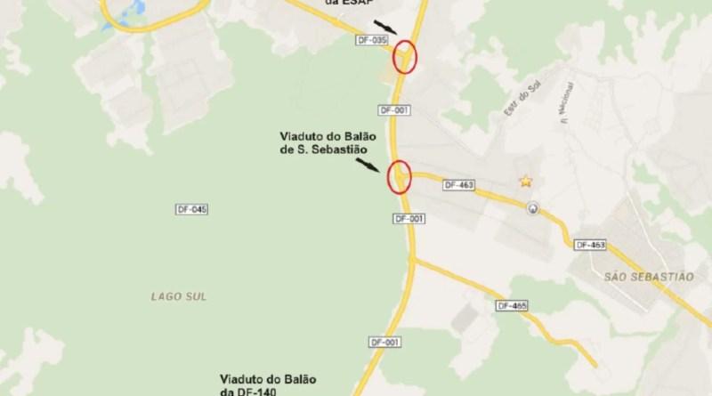 Mapa viadutos