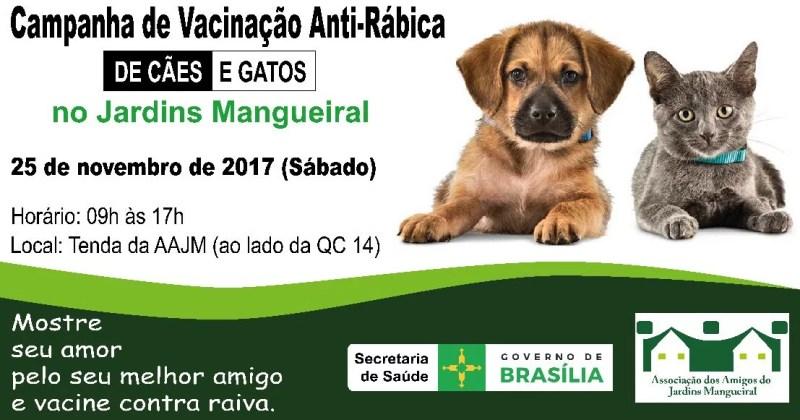 Campanha de Vacinação Antirrábica - 25/11/2017