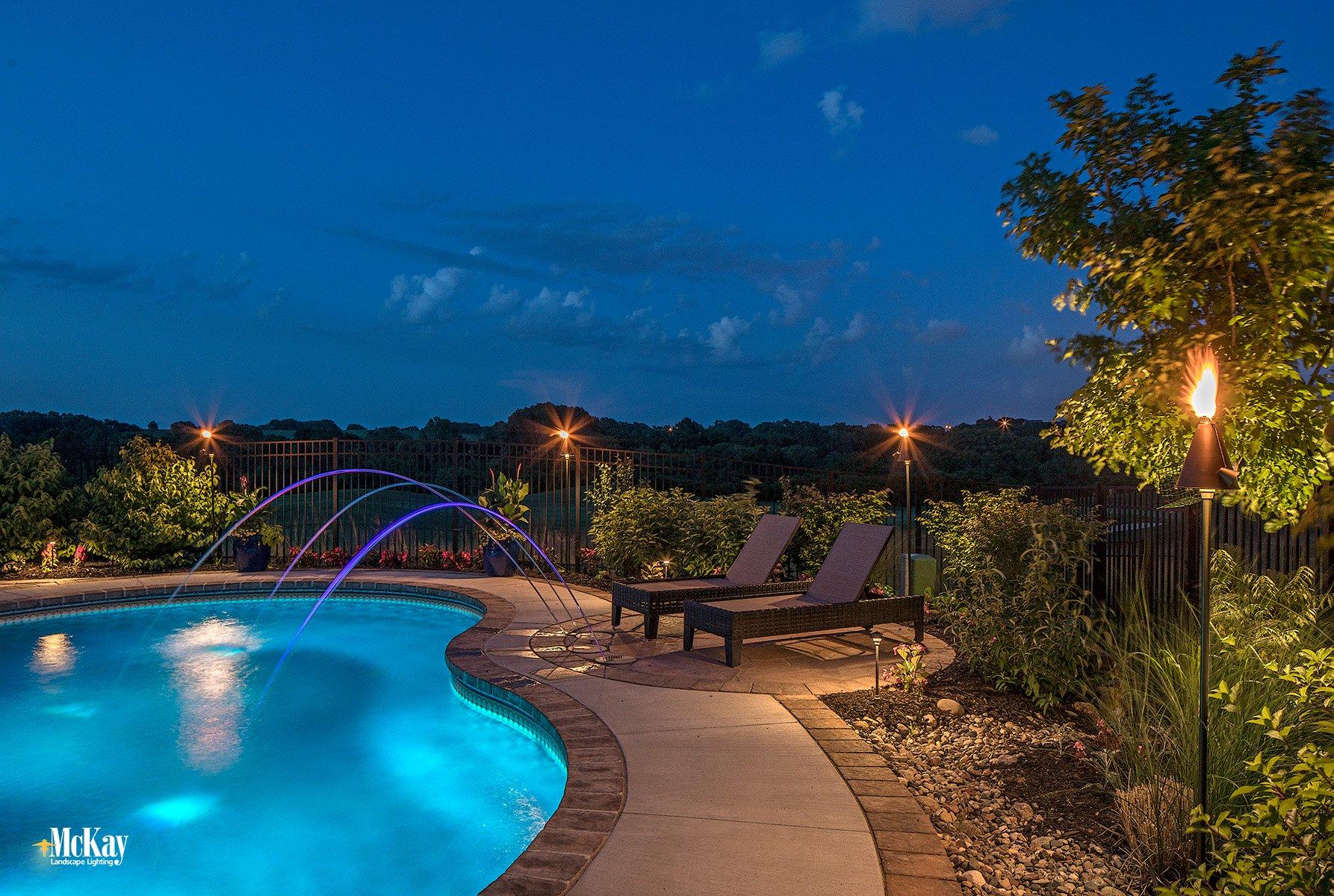 pool landscape lighting design ideas