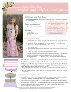 Kid's Ruffle Dress Free Pattern