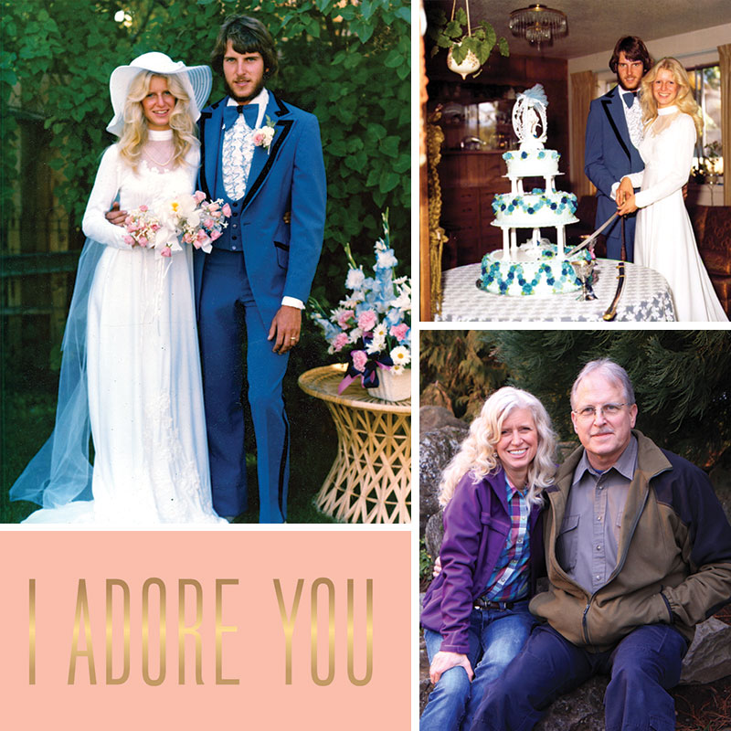 Wedding pictures and 39 years later
