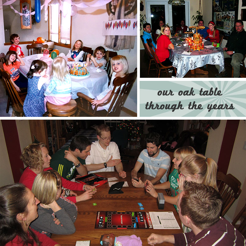 Sheila's favorite table through the years