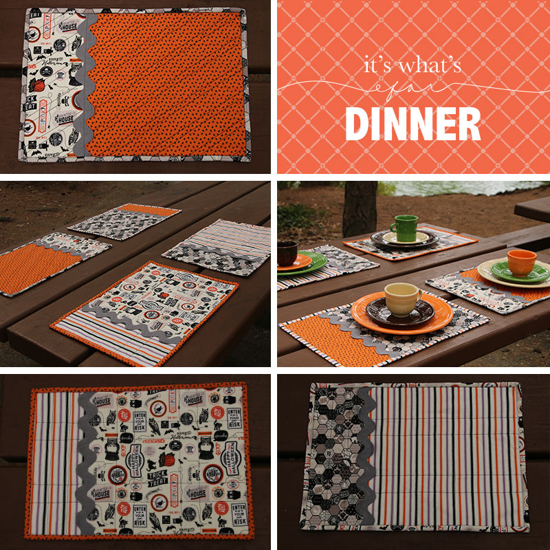 halloween placemats without appliques