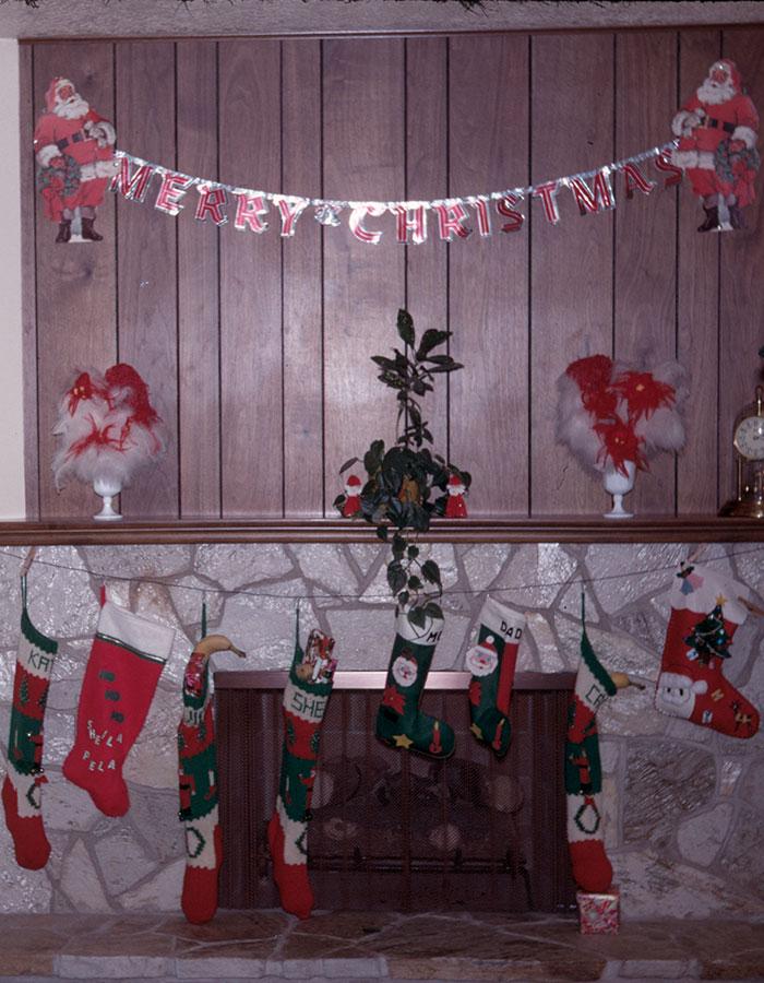 Sheila made felt stockings for mom and dad