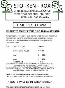 sto-ken-rox baseball sign ups poster
