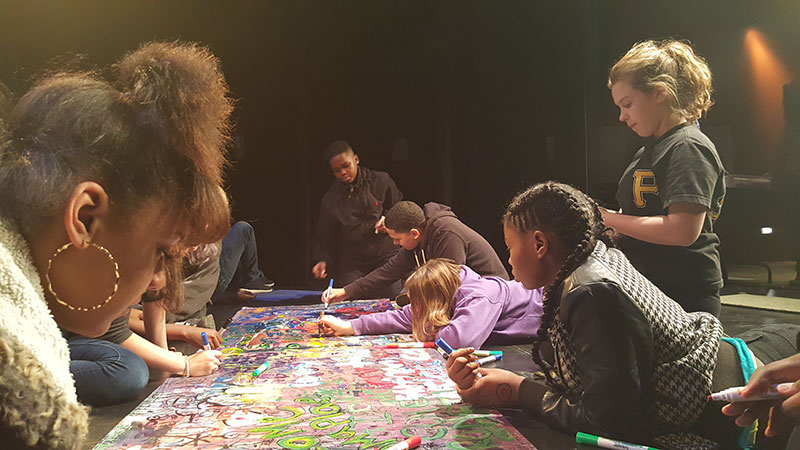 sto-rox middle school students create art at the father ryan arts center