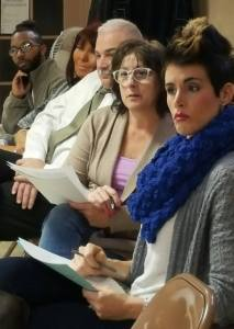 Members of the Sto-Rox Youth Partnership listen to student council members in December.
