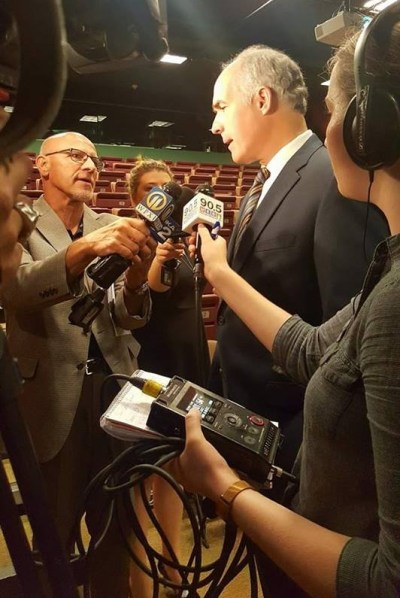 Senator Casey speaks with the media.