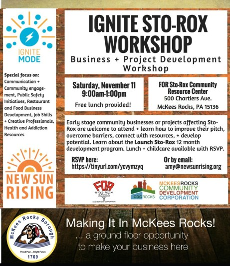 Ignite Sto-Rox Business Incubator Flyer