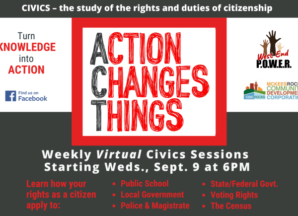 ACT – Turn Knowledge Into Action weekly civics series each Wednesday