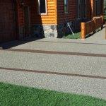 Epoxy flooring outdoors