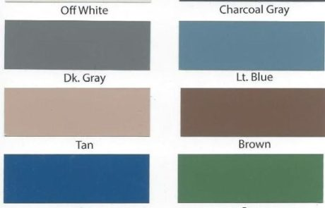 polymer coatings colors chart