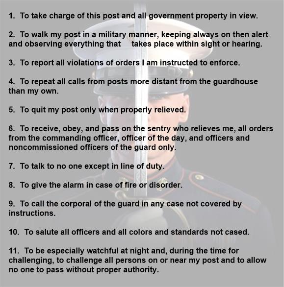 Security Guard 11 General Order