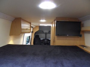 Sprinter sporthome bedroom Tv